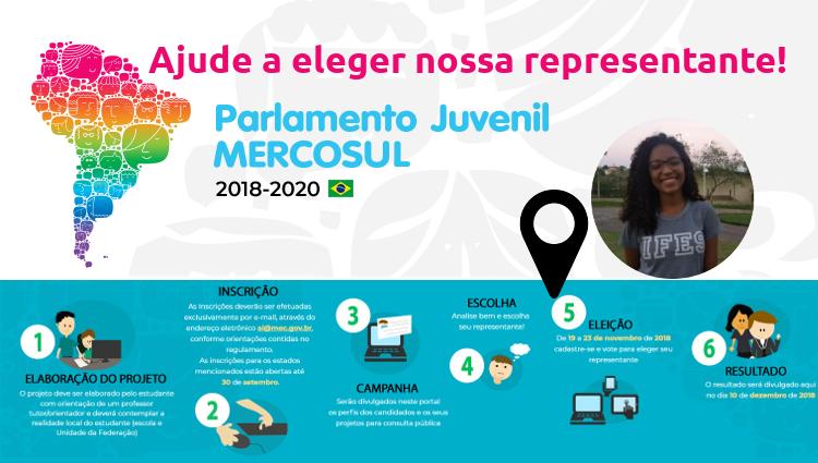 Parlamento Juvenil Mercosul 2018-2020 - Ajude a eleger nossa representante.